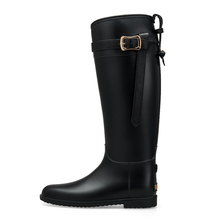 Wholesale price fashion design women long black horse riding boots