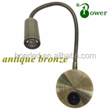 BRONZE 2W 12 VOLT LED CARAVAN READING LIGHTS