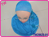fashion hijab sale with flower for malaysia women