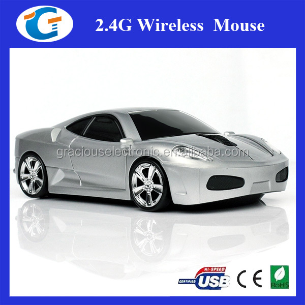 2.4ghz wireless car shape usb promotion gift gadget mouse