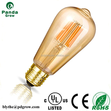 2016 New Model Hot Sale Cheap Price Strong Quality ST64 LED Filament Dimmable Bulb 8W 6W 4W With CE RoHS UL
