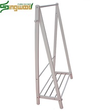 2018 hot selling Multi-functional wooden Clothes hanger and Shoe Rack for home use