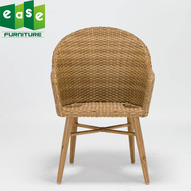 Modern design Wooden dining <strong>chair</strong> for living room or outdoor with cushion brown color