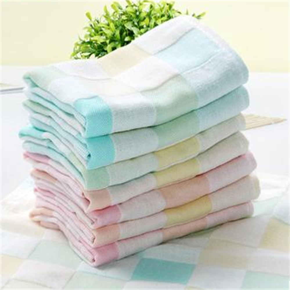 The standard towel size of bath towels is about 27 inches by 52 inches. Bath towels are do-it-all towels and essential for drying your body after a bath or shower. The standard towel size of hand towels is about 16 inches by 30 inches.