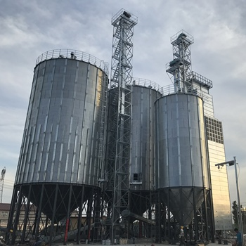 Used farm 500ton cone bottom steel grain silo selling on competitive price