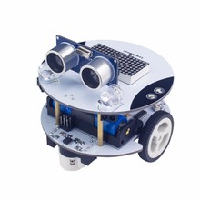 Smart Chassis Car Robot Kit for Arduino/APP Control,Graphical programming/easy assembly/Abundant learning material