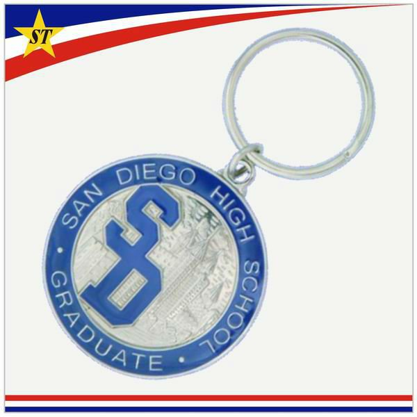 cheap festival event souvenir gift metal custom promotional key chains