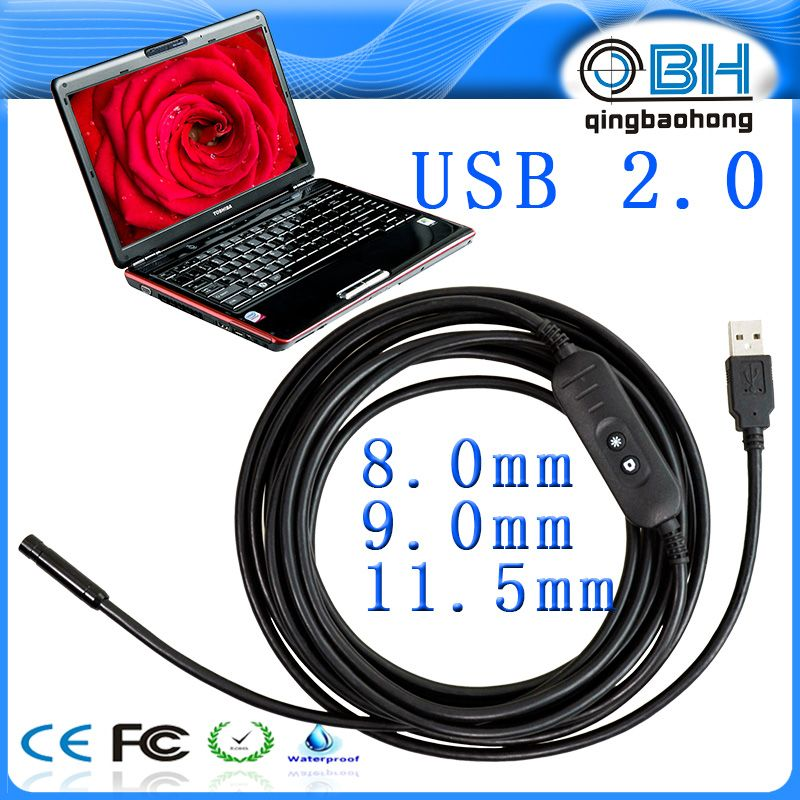 2016 new design borescope endoscope inspection snake camera wifi