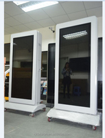 55'' double side floor standing outdoor full HD digital signage