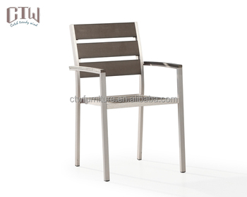 aluminum outdoor non wood stacking dining chair