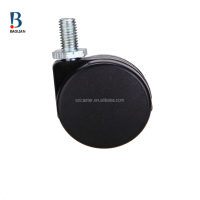shenzhen classical wholesale 44mm black mini duty rotating nylon office caster wheels for cabinet