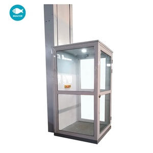 3m lifting height 300kg load 2 floor cheap price residential elevator lift small home elevator lift with cabin