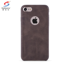 High quality pu leather mobile phone case for iphone 7