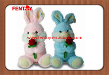 Cute and cheap Easter rabbits rose plush bunny toy for gifts