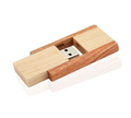 Custom swivel wooden usb flash memory drive with Logo Engraved for wedding gift