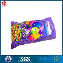 Custom accpeted 9 inch width self adhesive package plastic christmas stocking candy bag