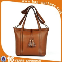 Fashion italian high quality lady genuine leather handbag
