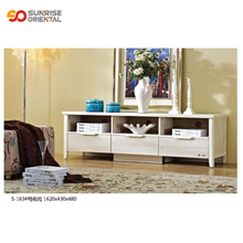 living room showcase design wood tv stand white solid wooden <strong>furniture</strong>