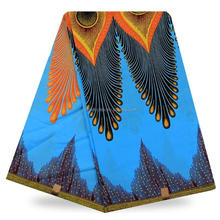Popular african printed wax fabric cotton wax fabric with flowery colorful patterns africa skirt dresses