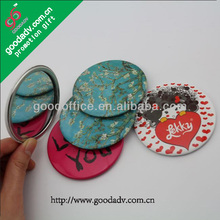 Factory wholesale Fashion accessories hand mirror with logo / metal hand mirror