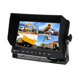 New 7 inch 4 CH Car Quad Monitor with Sunshade,DC 12-36V Compatible