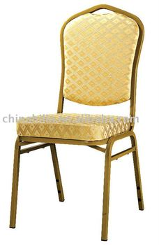 golden iron hotel banquet dining chair for restaurant used sale XL-H0705