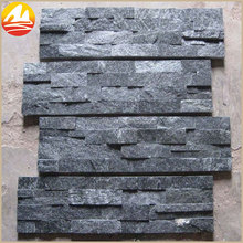 Natural Black Wall Stone Decoration Indoor With Split Surface