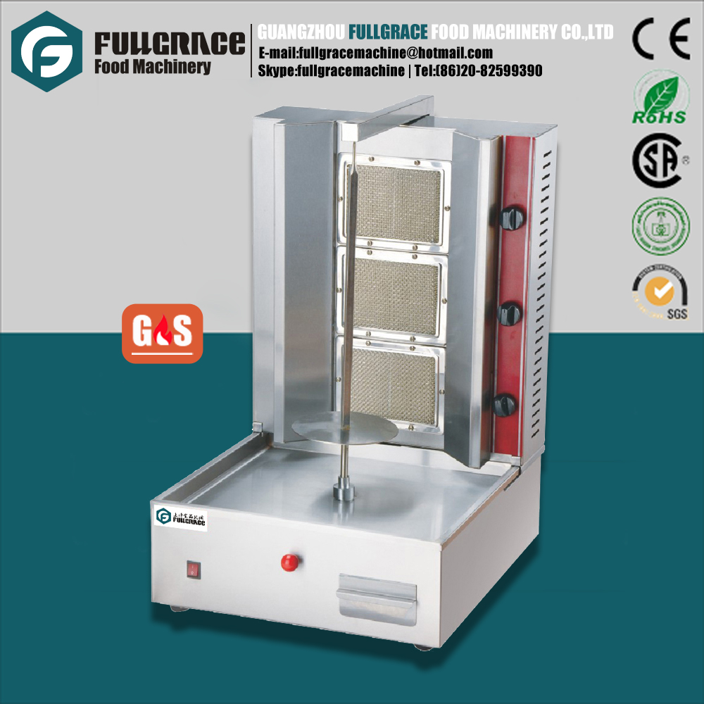 most popular for midddle east restaurant commercial stainless steel gas shawarma machine for beef lamb chicken all kinds of meat
