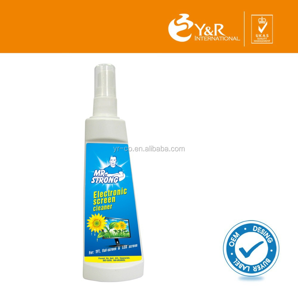 Natural non-toxic mini screen cleaner
