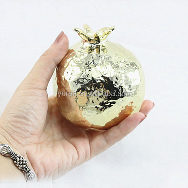 new product golden fake pomegranate decoration display
