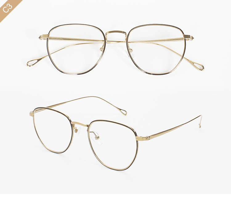 Round frame customized logo titanium optical eyeglass high quality 8040