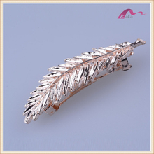 Fashion large big metal leaf ship hair barrette for adult