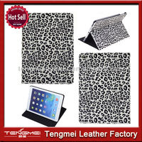 Newest leopard leather case for ipad air/ipad 5 factory price
