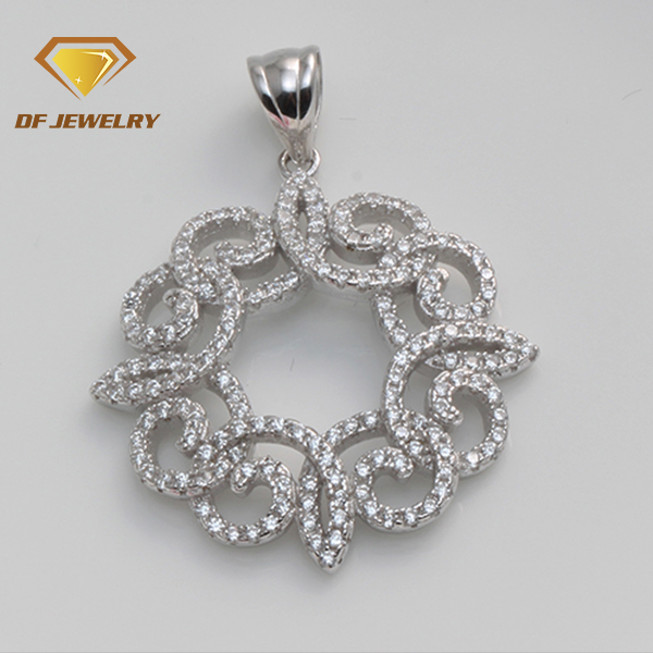 High quality flower shape mexican sterling silver pendants