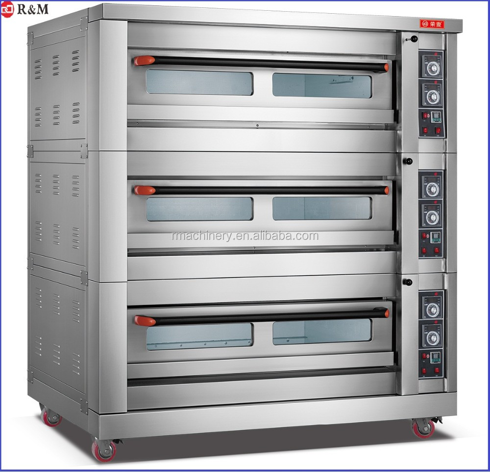 Commercial Luxurious Stainless Steel 400 Degree 3 Deck Pizza Oven Bread Baking Oven