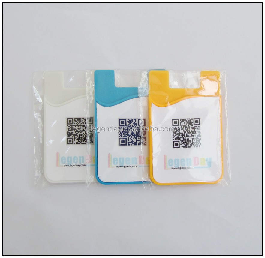 New style free sample mobile phone case card holder with screen cleaner