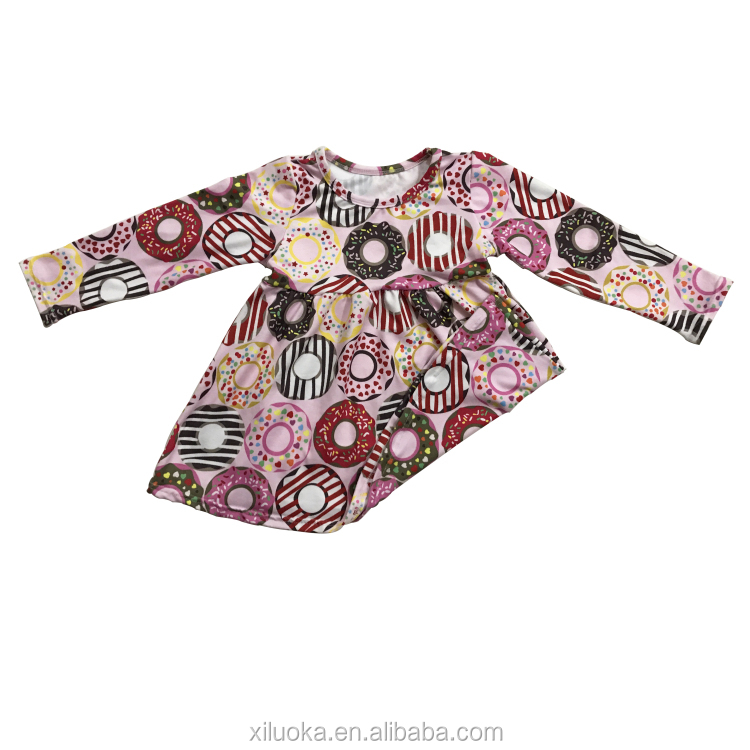 Wholesale Baby Dress Cotton Kids Clothes Long Sleeve Baby Dress