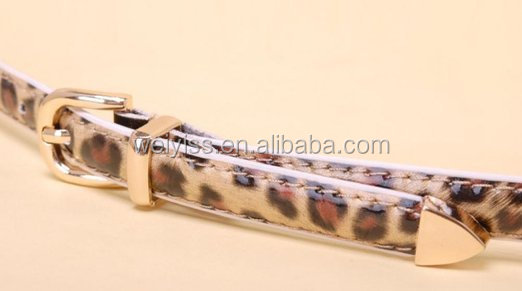Gift Idea Leopard Print Faux Leather Fashion Belt for Ladies