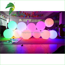 Hongyi Colorful Round PVC Inflatable LED Balloons Outdoor Sphere Lights for Night Decoration