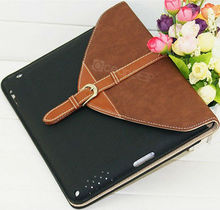 Luxury design wallet style folio colors custom for ipad 2/3/4 tablet case