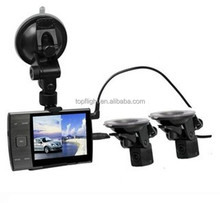 3.5 Inch Screen HD 720P S3000A Dual Lens Car Camera Double External Lens Car Dash Cam Vehicle DVR