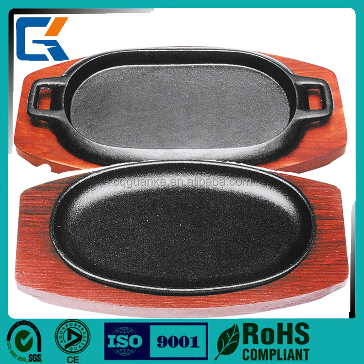 Food grade health bbq grill pan ,sizzler plate