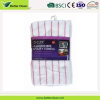 100% polyester washable household stripe yard dyed table cleaning cloth