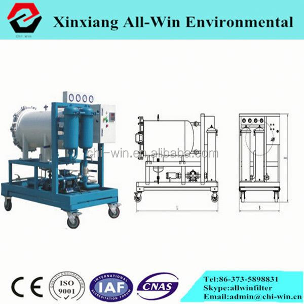 movable coalesencing separation centrifugal lube oil purifier