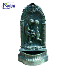 Handmade boys pouring vase bronze wall fountain sculpture NTBFO-037Y