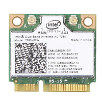 Dual band Wireless-AC Bluetooth Network card Intel 7260 7260HMW 867Mbps 2.4G/5Ghz Mini PCI-E Wi-Fi + BT 4.0 Wlan adapter