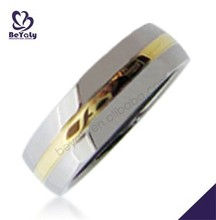 2014 new craft gold band shiny cool popular men ring