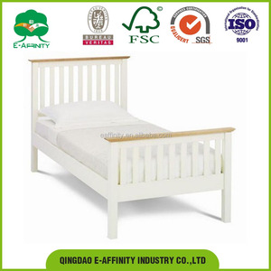 JG-SR-015 Modern wooden pine single bed