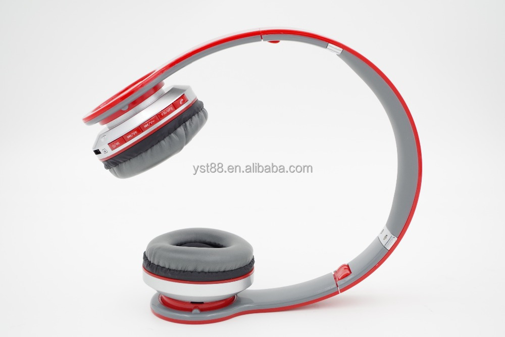cheap price hot selling headband headphones wireless bluetooth headset with fm and SD card
