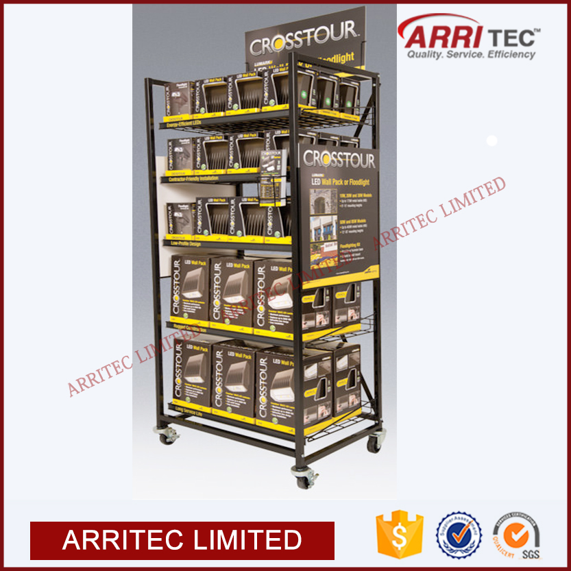 Retail Store Floor Battery Rack Display Stand View